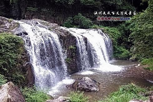 百丈漈风景区三漈瀑布