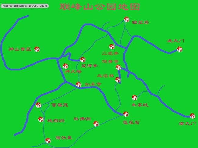 北戴河联峰山公园导游图